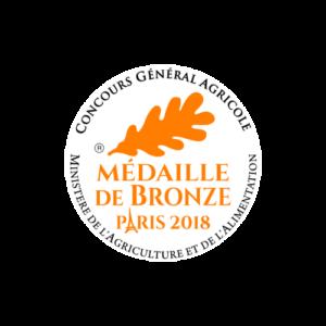Concours Général Agricole - Médaille Bronze 2018