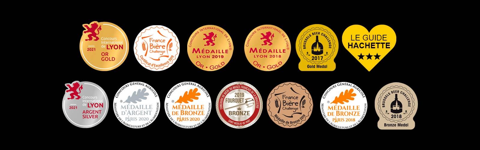 Médailles de concours Bière de la Plaine